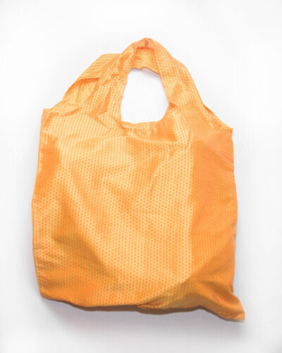 oval handle tote bag orange