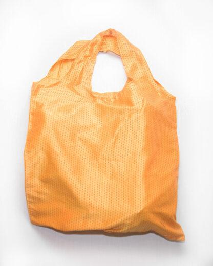 oval handle tote bag orange