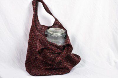 brown oval handle tote bag