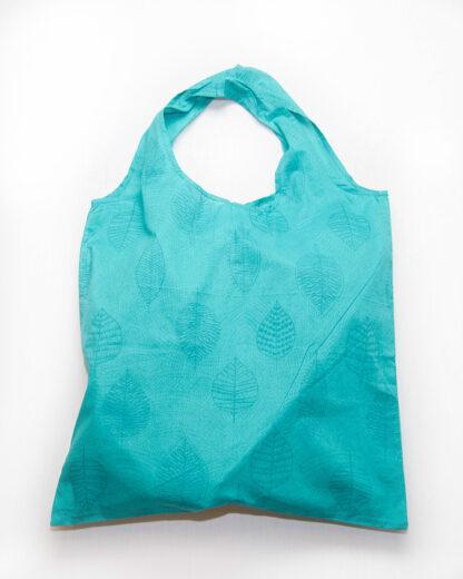 oval handle tote bag teal