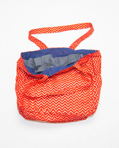 tote bag with pockets red