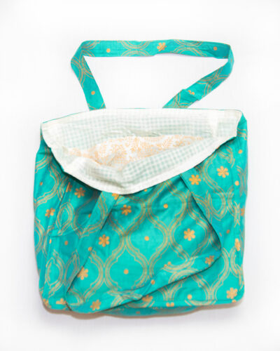 tote bag with pockets teal