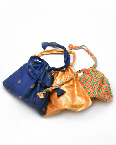 3 small drawstring bag assortment