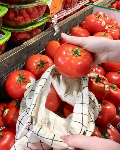 veggie bag with tomatoes