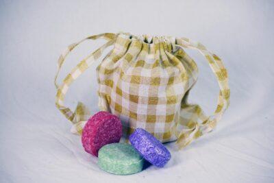 Small drawstring gift bag