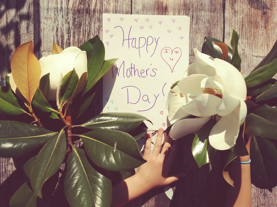 Happy Mothers Day Card with Magnolias